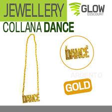 COLLANA DANCE carnevale accessori costumi hip hop rapper eminem fedez 900113