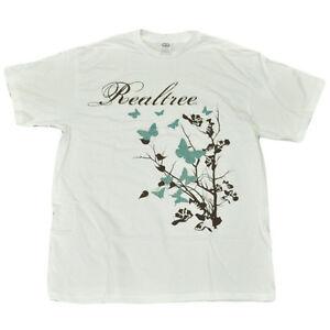 Team Realtree Women Ladies Tshirt Nature Outdoors Glitter Butterflies Large LG