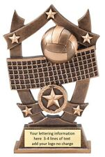 VOLLEYBALL THREE DIMENSIONAL TROPHY RESIN AWARD FREE LETTERING MSSR17