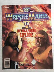 WWF Wrestlemania V 5 Wrestling Magazine Program 1989 WWE Hulk Hogan Randy Savage
