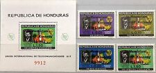 HONDURAS 1969 727-30 Block 13 C446-48 ITU Space Satellite Kennedy Memorial ovp**