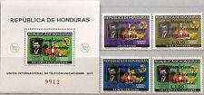 HONDURAS 1969 727-30 Block 13 C446-48 ITU Space Satellite Kennedy Memorial ovp**