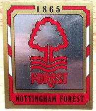 PANINI FOOTBALL 88 Nottingham Forest Badge Nº 181 excellent état