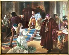 "Original Big KPM Plaque ""Othello Pleading Before the Doge"" by Baerschneider"