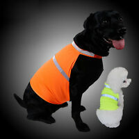 Fluorescent Security Dog Reflective Vest Clothes Safety Waterproof Pet Coat