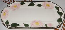 Königskuchenplattte Oval Platte Villeroy & Boch Wildrose Handmalerei 32,5 x 16cm