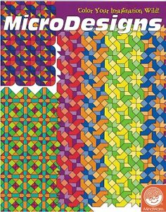 Adult Coloring Book Geometric Patterns Mindware MicroDesigns