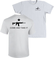 COME AND TAKE IT AR15 Assault Rifle Flag Shirt - FRONT & BACK, MANY COLORS