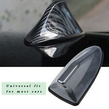 Universal Car Shark Fin Roof Antenna FM/AM Radio Signal Aerial Carbon Fiber