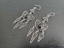 Jewelry Bohemian Gypsy Hippy Boho Silver Handmade Tuareg Earrings Ethnic Tribal