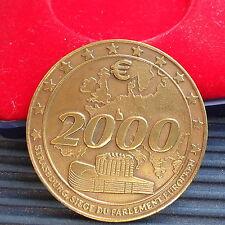 STRASBOURG PASSAGE A L' AN 2000  Bronze Doré Massif 40 MM Boîte Ecrin - Rare