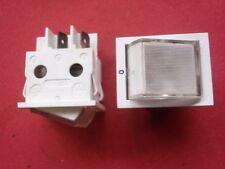 2x WEISSE ELEKTRO WIPPSCHALTER 2xEIN BELEUCHTET kleine BAUFORM 16A 6,3mm   24086