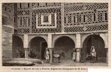 TOZEUR MAISON EN TOR HOUSE TUNISIE TUNISIA IMAGE 1892 PRINT