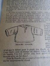 """PATRON ORIGINAL  POUPEE """" BLEUETTE """"LINGERIE BRASSIERE JUILLET 1917"""