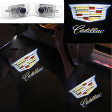 2x For Cadillac Wireless LED Car Door Logo Shadow Welcome Light Projector