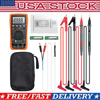 DM4000 Pro Digital Multimeter + TP01 Temperature Probe Test Lead Set with Bag US