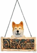 Akita Dog Welcome Sign New