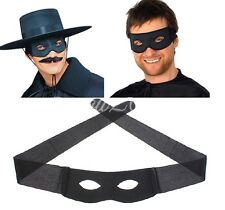 FD4353 Mens Adult Black Bandit Robber Fancy Halloween Dress Costume Eye Mask
