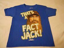 Boys Tee Shirt Sz XS 4/5 Duck Dynasty Kids Blue That's A Fact Jack!