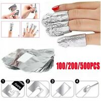 500Pcs Aluminium Foils Nail Art Gel Polish Nail Wraps Remover Soak Off Acrylic