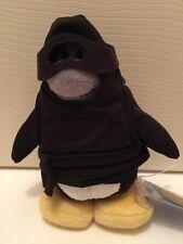 "NWT 7"" Black Penguin Ninja Disney Club Plush Unused Gold Coin Code"