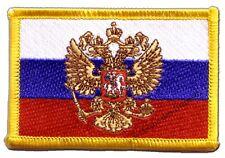 �‰cusson brodé drapeau Russie avec blason russe 5x8cm Thermocollant