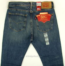 Levis 501 CT Jeans Mens Button Fly SZ 33 x 32 BLUE FADED DISTRESSED Tapered Leg