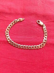 9ct gold curb bracelet 13grams