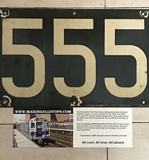 Nyc Transit subway 1930's unique rare number board #555, from R1-R9 trains Ind