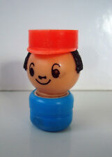FIGURINE VINTAGE EDUCALUX CONDUCTEUR TRAIN (5x3cm)