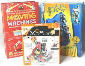 3 New Game Kits - Vex Robotics - Tronex Science Lab - Mega Model Moving Machines