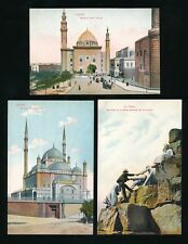 Egypt CAIRO x5 c1900s PPCs by Cairo Postcard Trust