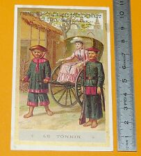 CHROMO 1890 1900 CONFISERIE CHOCOLAT BREUIL TONKIN INDOCHINE COLONIES FRANCE
