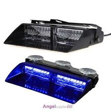 16 LED Car Police Strobe Light Dash Emergency 18 Flashing Police Lights Blue