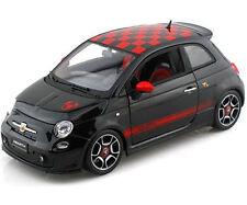 Fiat Abarth 500 1:18 Escala Diecast Modelo Bburago Die Cast Models, Negro