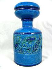 "Rare Aldo Londi "" Paisley "" design Bitossi pottery bottle with lid Italy 29,5 cm"