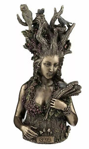 GAIA BUST Mother Earth Statue Mythology Wicca Pagan 26cms NEMESIS NOW UK SELLER