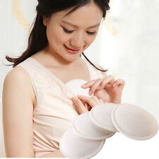 4PCS Bamboo Reusable Breast Pads Nursing Maternity Organic Plain Washable   IO