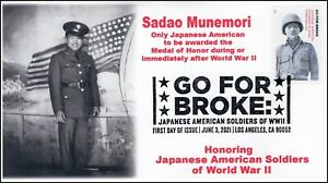 21-150, 2021,Go for Broke, First Day Cover, Pictorial Postmark, Japanese America