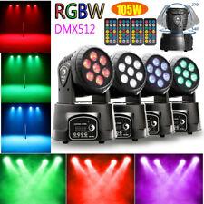 105W Moving Head Stage Lighting Rgbw Wash 7Led 9/14Ch Dmx Mini Light Dj Disco Us