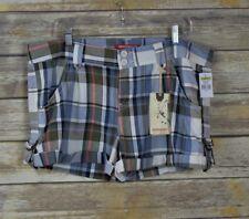 Unionbay Women Shorts Cuffed Multi-color Plaid  Size 17 NWT