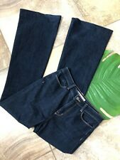 J Brand Womens 29 Dark Wash Cotton Blend The Doll Bell Bottom High Rise Jeans H