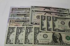 New Uncirculated Notes Variety Pack of 50, 20, 10, 5, 2 & 1 Dollar Bills