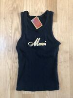 Maui Tank Top Womens Black & Gold Size L NEW See Measurements