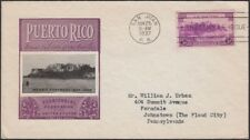 U.S., PUERTO RICO, 1937. Territory First Day 801-45a,45b (2), Ioor Cachet