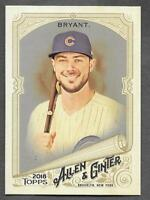 Kris Bryant 2018 Topps Allen & Ginter HOT BOX SILVER GLOSSY FOIL Cubs #5