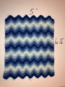MINIATURE CROCHETED RIPPLE PATTERN AFGHAN