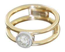 Ring Gold 750 Brillantring 0,44 ct Goldring 18 Karat Brillant Solitärring RW 55