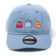 Official PAC MAN Baseball Cap Snapback Hat Ghosts Stone Washed Denim Gaming Gift