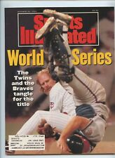 Sports Illustrated Minnesota Twins Atlanta Braves World Series 1991 Dan Gladden